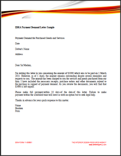 demand letter for payment demand letter for money owed template business 21341