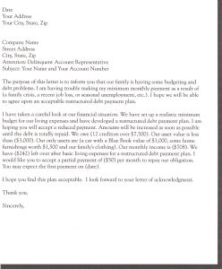 demand letter for money owed sample letter to creditors