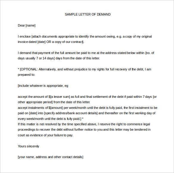 Demand letter for payment template business demand letter for payment altavistaventures