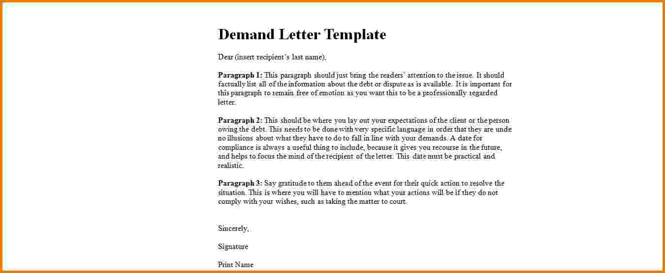 Demand letter template template business thecheapjerseys Gallery