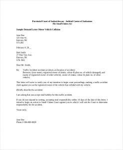 demand letter template sample demand letter motor vehicle collision