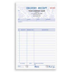 deposit receipt template drcc detail