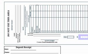 deposit slip templates bank deposit slips template