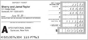 deposit slips example deposit slip