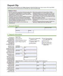 deposit slips template free deposit slip template