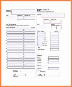 deposit slips template td bank deposit slip template business account deposit slip template