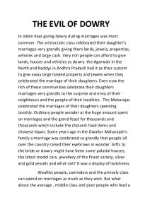 descriptive essay sample evil of dowry