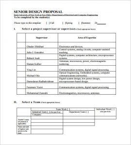 design proposal template senior design proposal pdf download