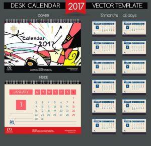 desk calendar desk calendar vector retro template