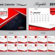 desk calendar desk calendar vectors template
