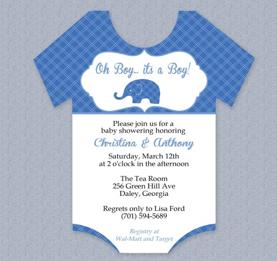 Diaper Invitation Template  Template Business