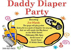 diaper invitation template sarddp