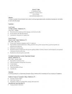 diesel mechanic resume early childhood education resume ece educator resume objective samples sample resumes diesel mechanic