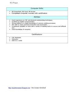 diesel mechanic resume welder resumes template