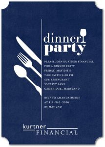 dinner invitation template darling dinner corporate invitations