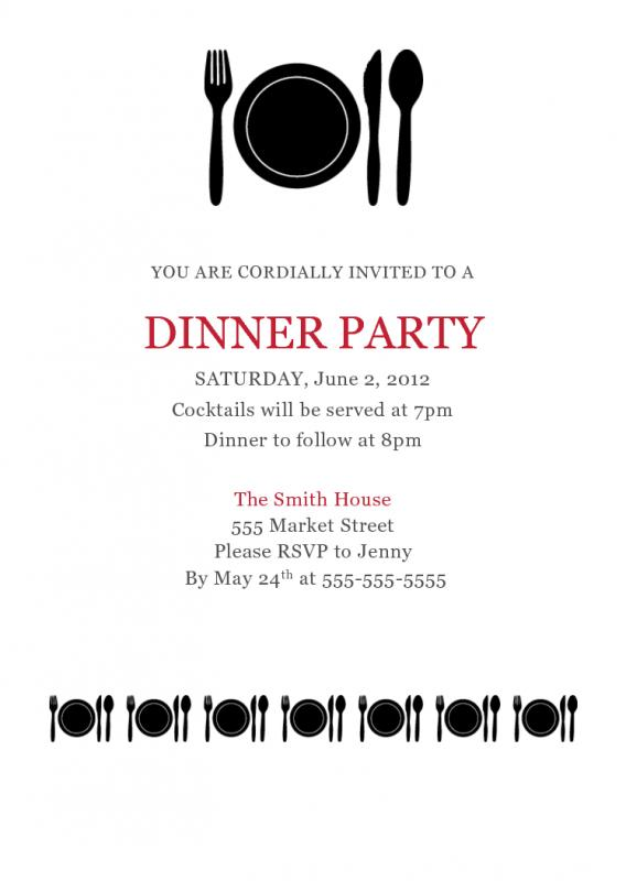 Dinner Invitation Template Template Business
