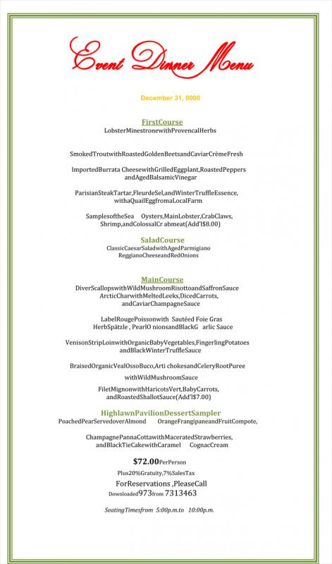 Dinner Menu Template  Template Business