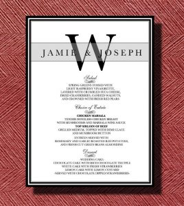 dinner menu template wedding reception dinner menu template download