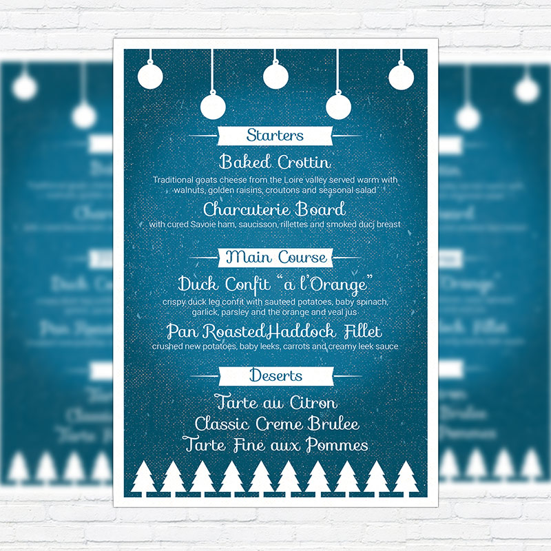 dinner party menu template