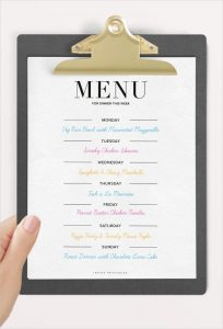 dinner party menu template weekly dinner party menu template