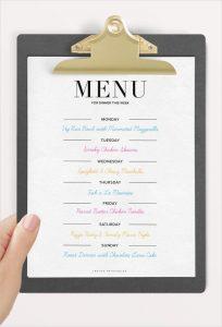 dinner party menu template weekly dinner party menu template