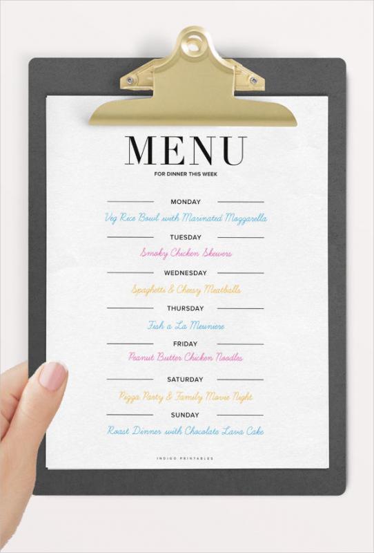 dinner party menu template template business. Black Bedroom Furniture Sets. Home Design Ideas