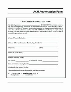 direct deposit form template ach authorization form template