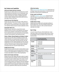 disaster recovery plan example vmware disaster recovery plan example