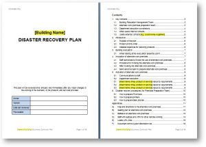 disaster recovery plan template building dr plan template image