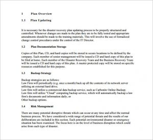 disaster recovery plan template disaster recovery plan for solo practitioners and small law firms pdf free download