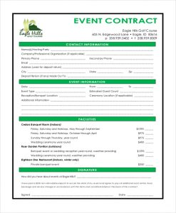disc jockey contracts template sample event contract form