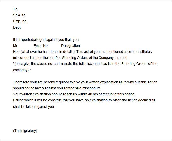 disciplinary write up form