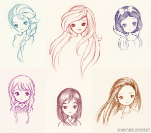 disney princess drawings disney princess sketches by silverchaim dvshn