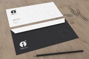 dj business card brand id mock up