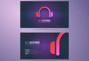 dj business card business card dj template