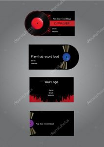 dj business card depositphotos stock illustration djmusic business cards