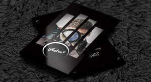 dj business card photographer business card on behance