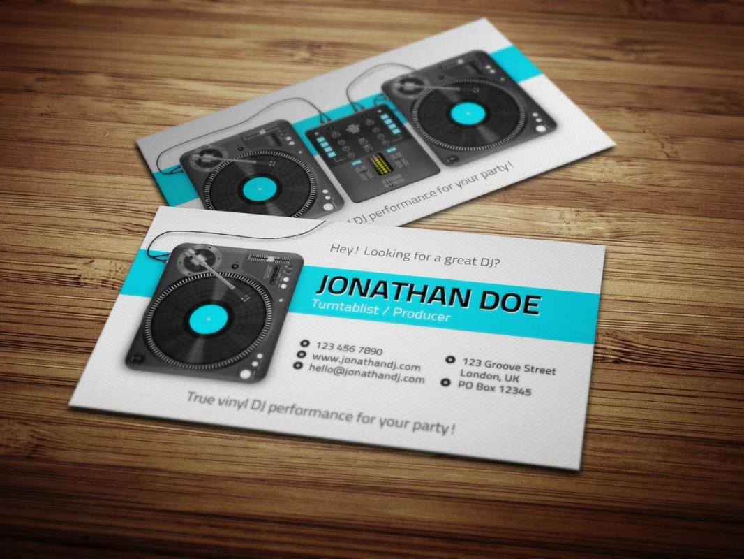 Dj Business Cards | Template Business