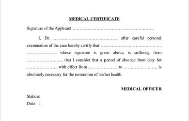 doctor excuse for work medical certificate template pdf