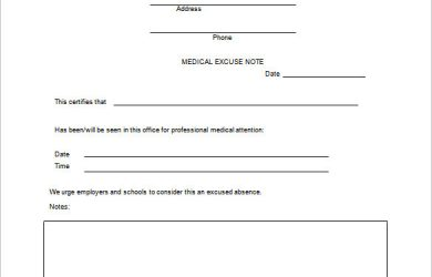 doctor excuse note example doctors excuse note for work free download