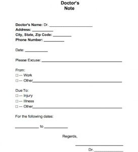 doctor excuse note for work free doctor note excuse templates template lab with regard to printable fake doctors notes free