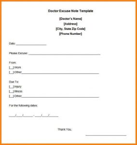 doctor excuse note for work doctors excuse letter free doctor excuse note template