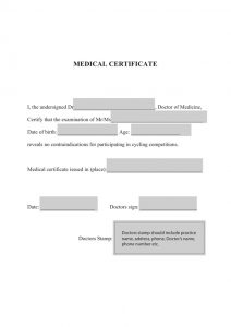 doctor excuse template etape du tour medical certificate