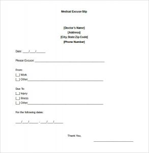 doctors excuse for work pdf sample blank doctors note for missing work excuse