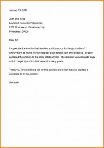 doctors note example decline letter business rejection letter sample