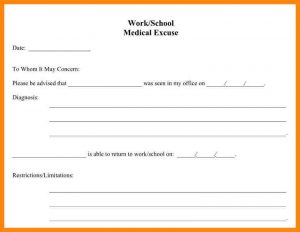 doctors note for school doctor note for school absence doctors notes