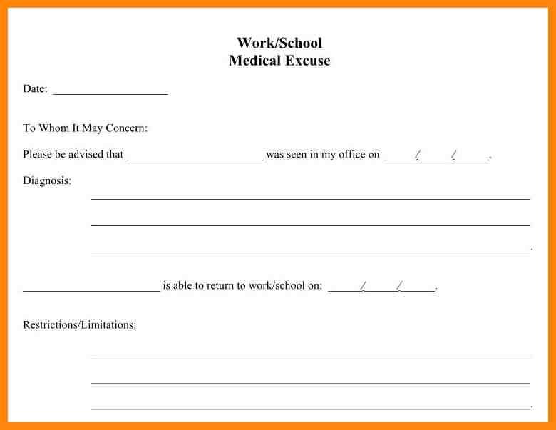 doctors note for school