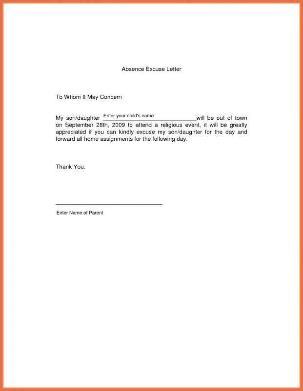 doctors note for work absence