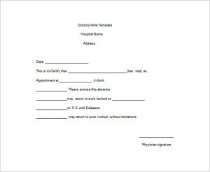doctors note for work medical doctors note for work word free template