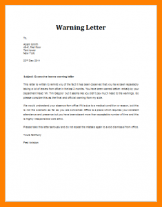 doctors note for work template warning letter absent from work excessive leaves warning letter